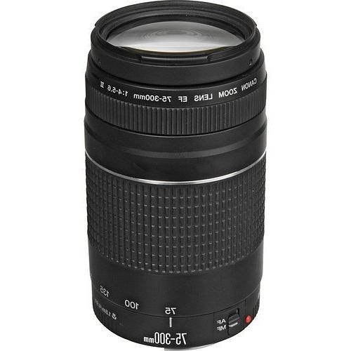 Canon EF 75-300mm f4-5.6 III Telephoto Zoom Lens for Canon S