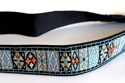 embroidered ocean blue green strap
