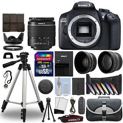Canon EOS 1300D / Rebel T6 DSLR Camera + 18-55mm 3 Lens Kit+