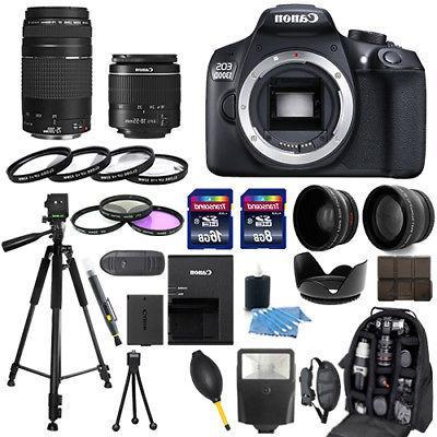 Canon EOS 1300D Rebel 18-55mm 30 Piece Bundle