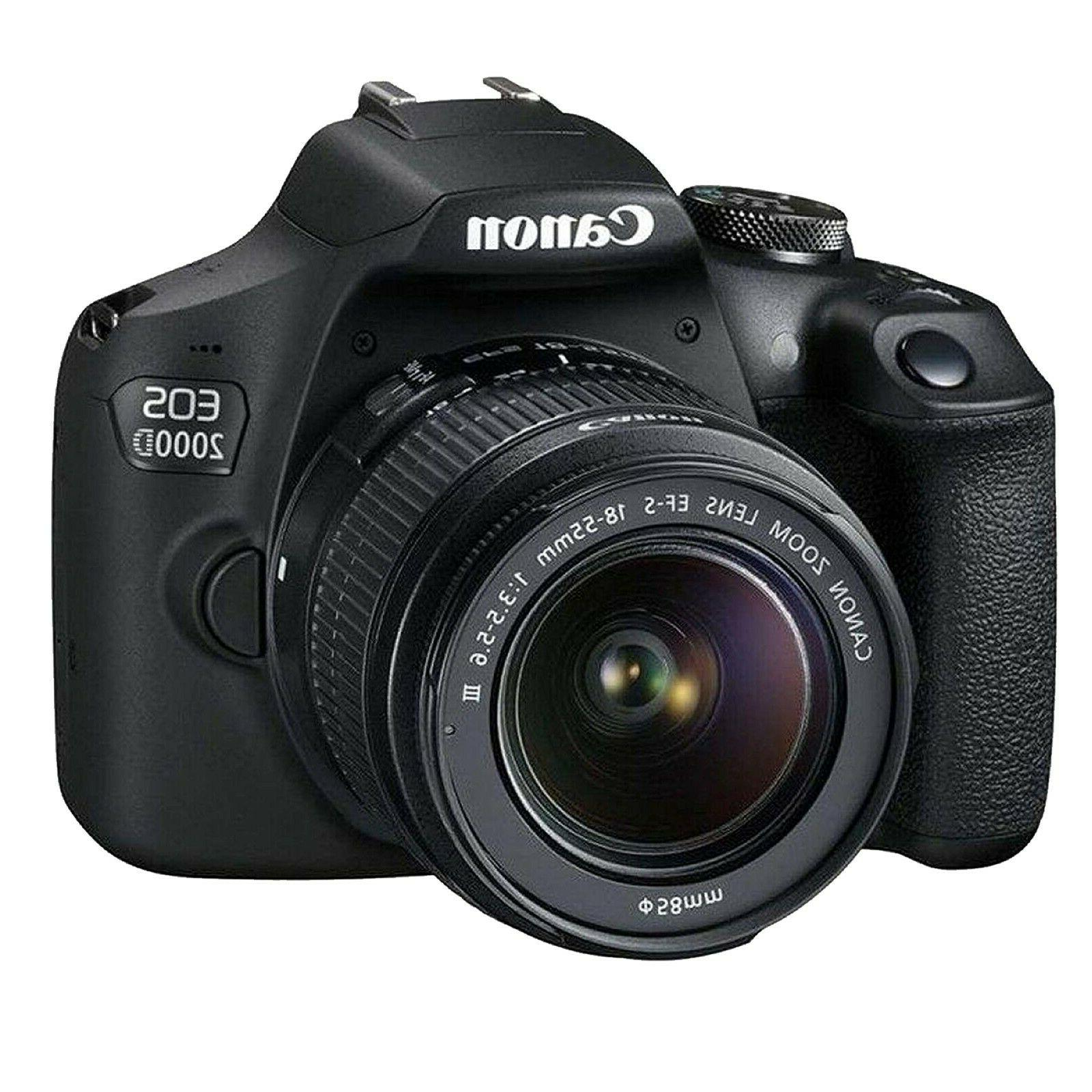 Canon 2000D / + EF-S 18-55mm Lens+ 128GB