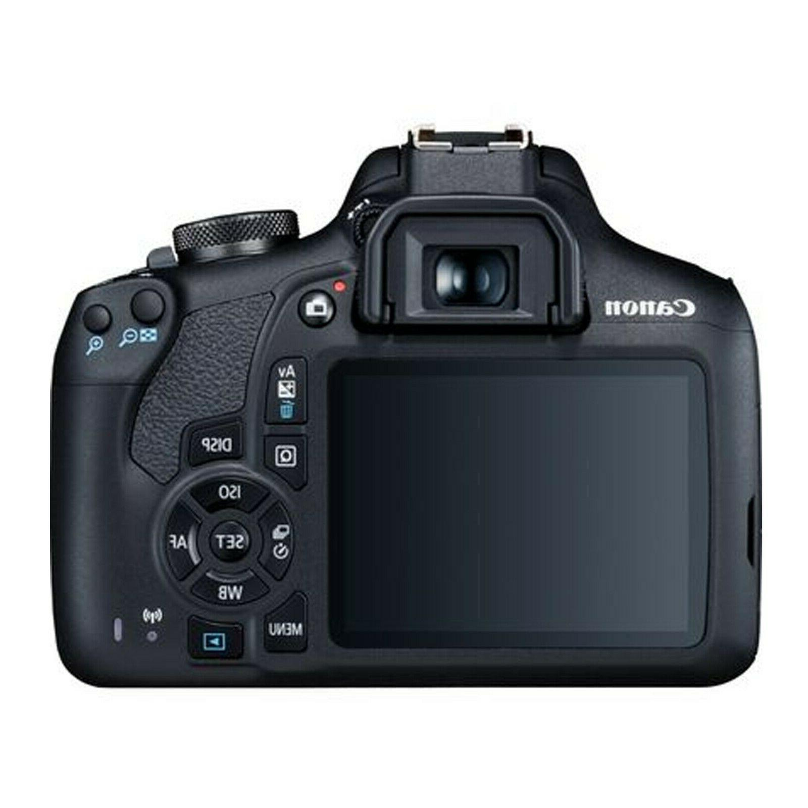 Canon 2000D / Rebel T7 + EF-S 18-55mm Lens+ 128GB Bundle