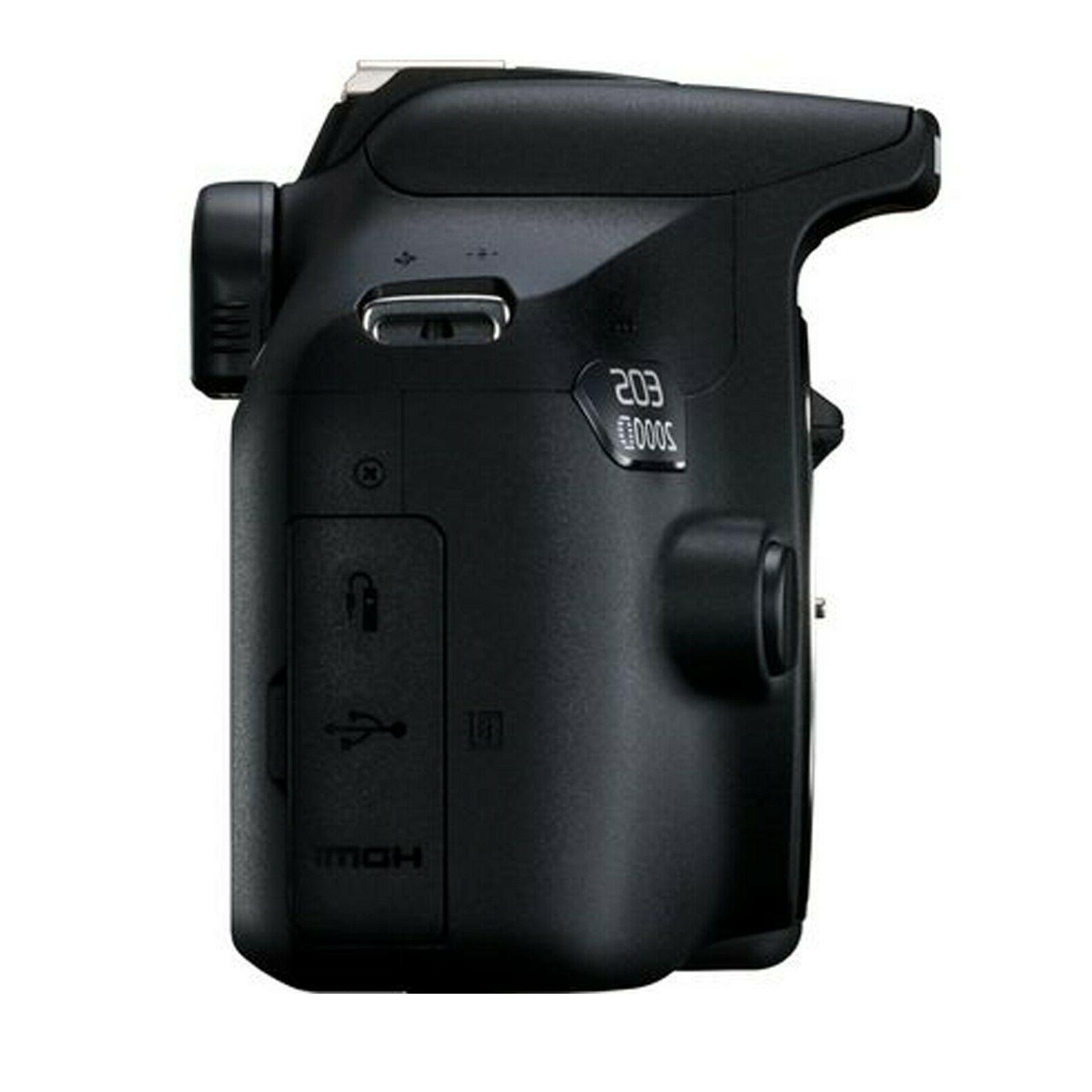 Canon Rebel T7 DSLR + 128GB