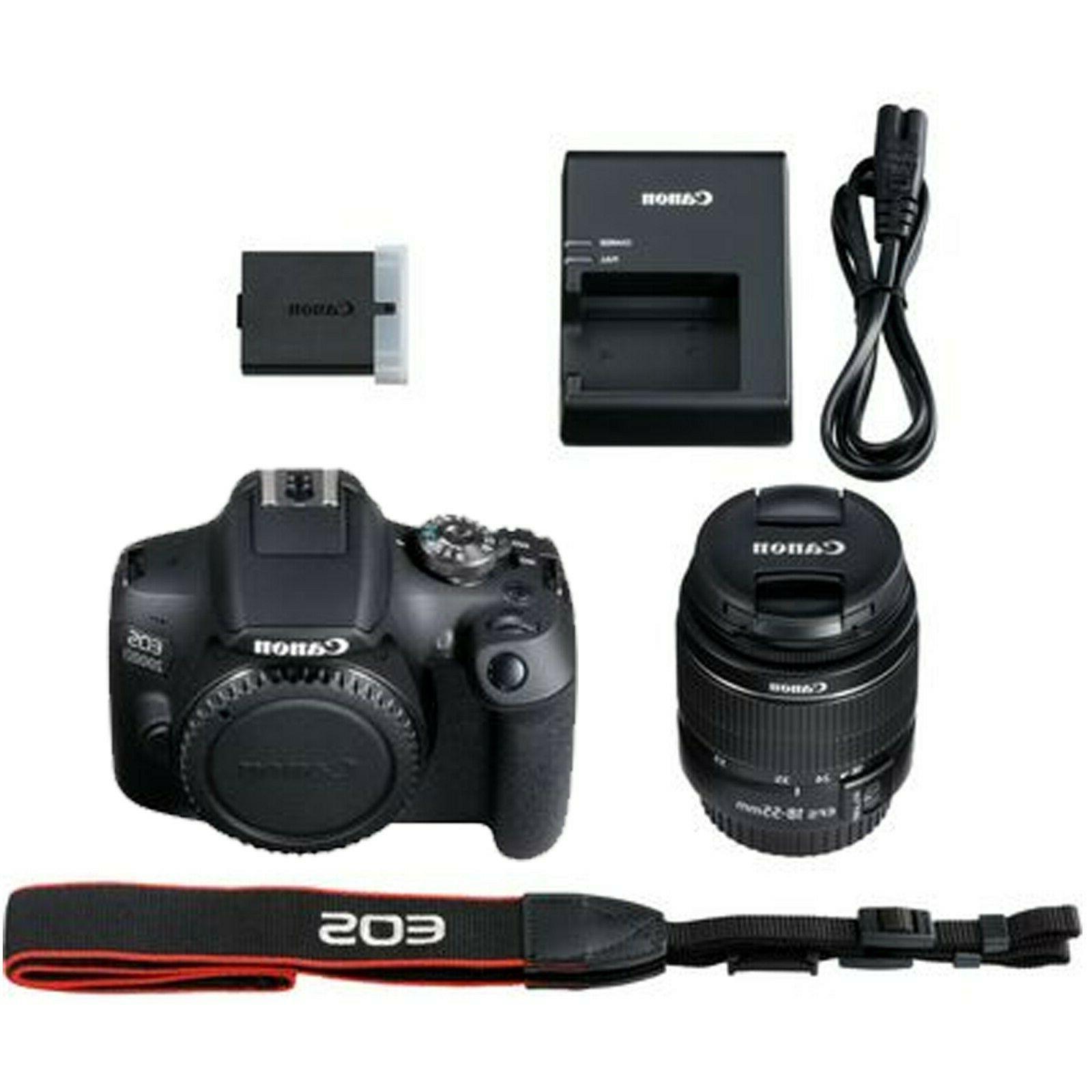 Canon Rebel T7 + EF-S 18-55mm Lens+ 128GB +More