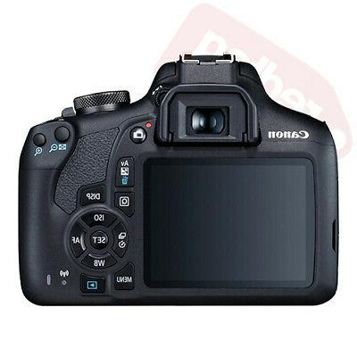 Canon 2000D / Rebel + 3 Lens Kit 18-55mm Flash &