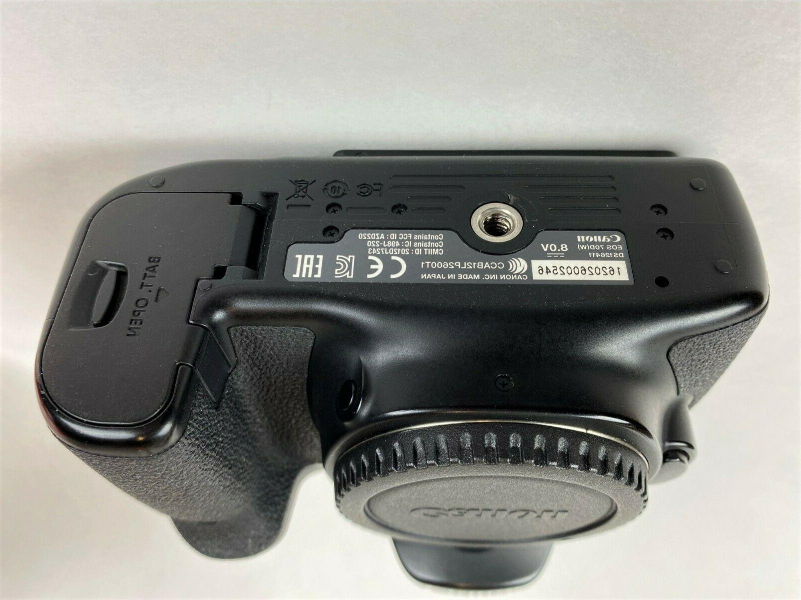 Canon 70D DSLR Camera Body, Accessories Extra Battery