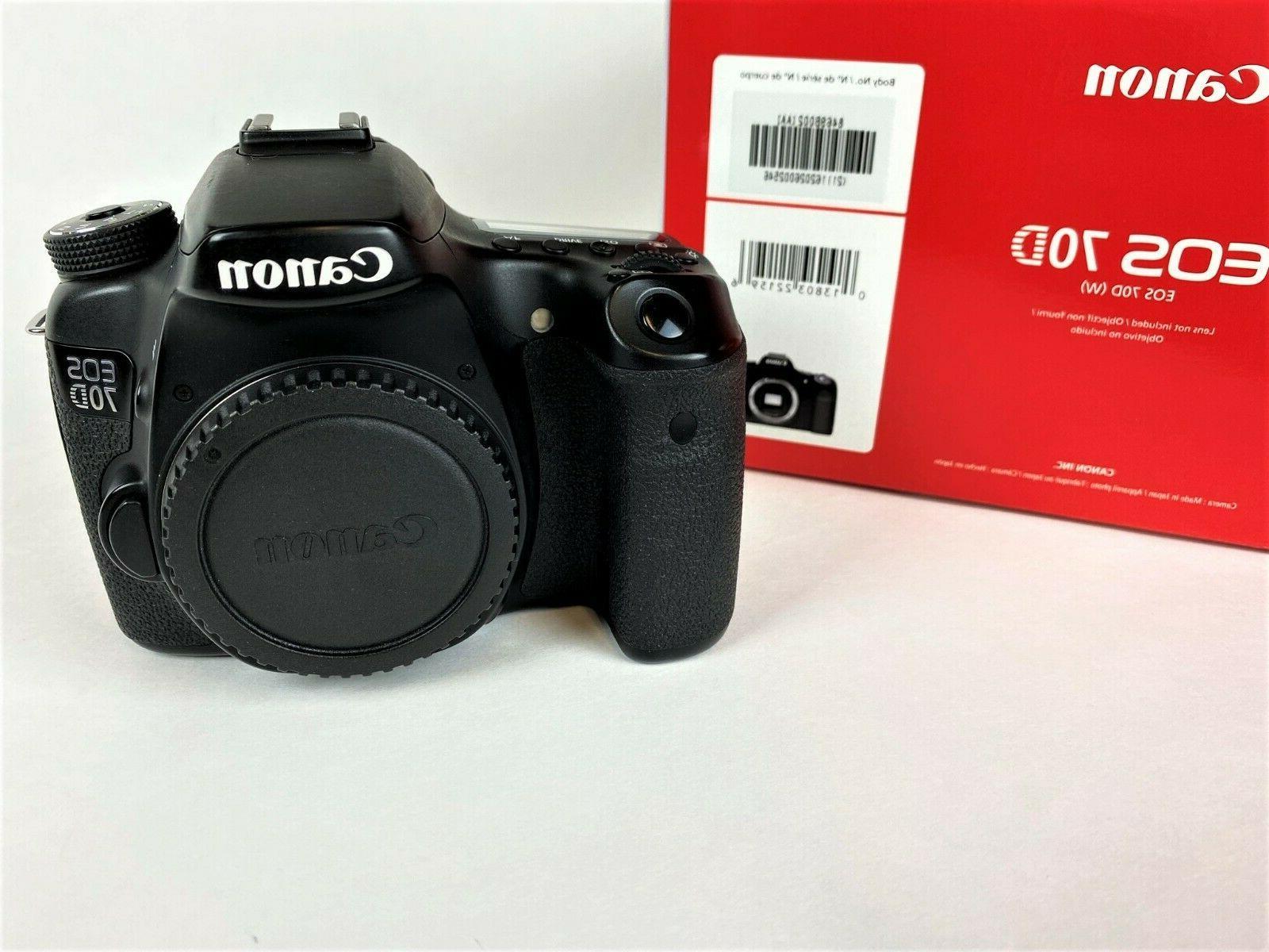 Canon EOS 70D DSLR Body, Accessories
