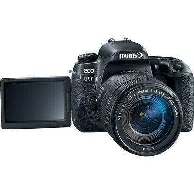 Canon EOS 77D CMOS DSLR Camera 18-135mm Lens 64GB Pro