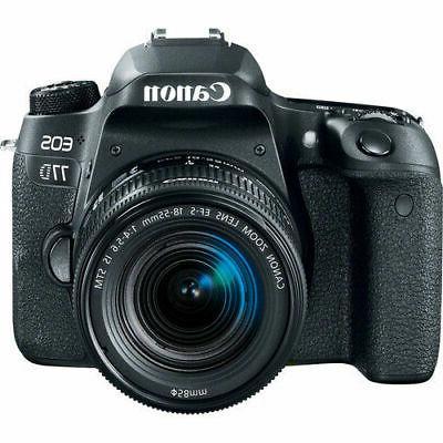 eos 77d digital slr camera with 18
