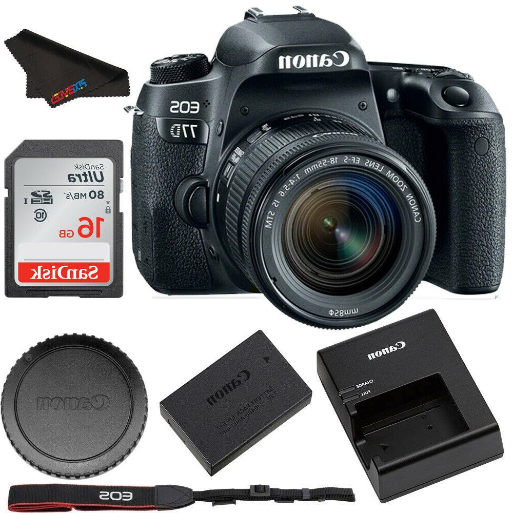 eos 77d dslr camera with 18 55mm