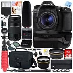 Canon EOS 80D DSLR Camera + 18-55mm & 75-300mm Dual Lens Tas