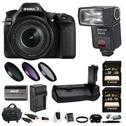 Canon EOS 80D DSLR Camera w 18 135mm f 3.5 5.6 Lens TTL Flas