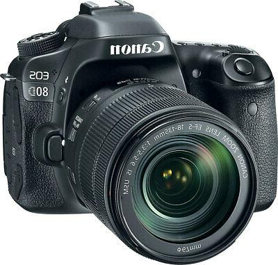 Canon EOS 80D 24.2 Megapixel Digital SLR Camera with Lens -