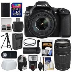 Canon EOS 80D Wi-Fi Digital SLR Camera & EF-S 18-135mm IS US