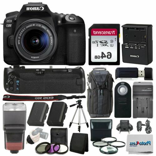eos 90d dslr camera with 18 55mm