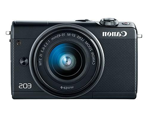 Canon EOS Camera w/15-45mm - Wi-Fi, Bluetooth, and Enabled
