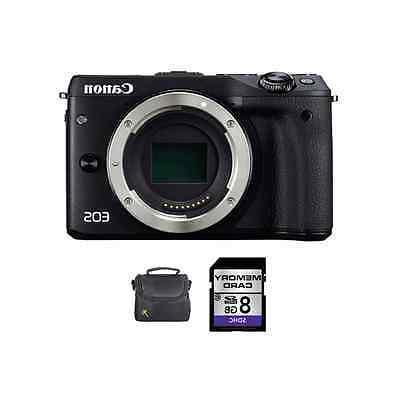 Canon EOS-M3 Digital Camera - Black + 8GB & Case