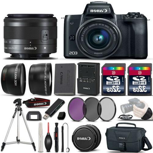 eos m50 slr camera 15 45mm stm