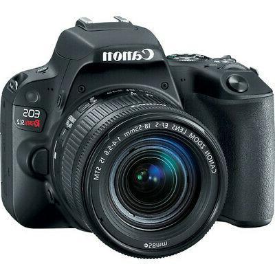 Canon EOS Rebel DSLR Camera - Black with Kit