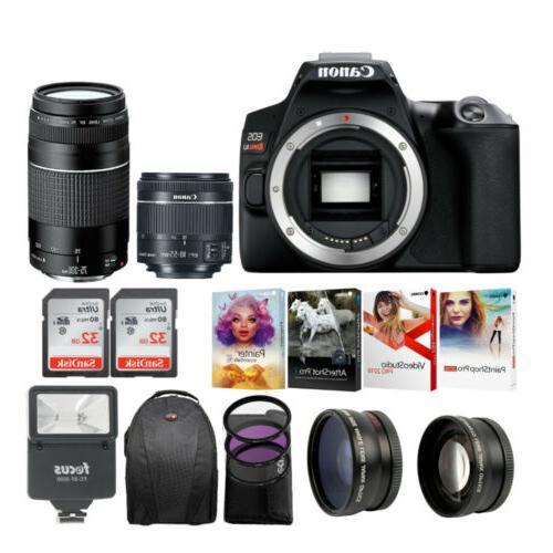 eos rebel sl3 dslr 4k camera black