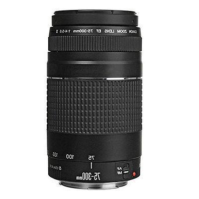 Canon Digital Camera 18-55mm 75-300mm Lens + 24GB Bundle