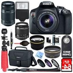 Canon EOS Rebel T6 DSLR Camera with EF-S 18-55mm & 55-250mm