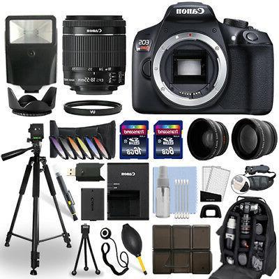 Canon EOS Rebel T6 DSLR Camera + 18-55mm IS Lens + 24GB Mult