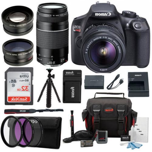 Canon EOS Rebel T6 18.0 MP DSLR Camera w/ 18-55mm & 75-300mm