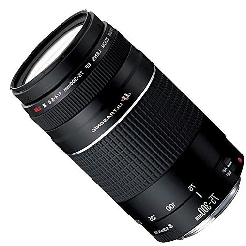 Canon EOS DSLR Camera 18-55mm & 75-300mm II Lens Memory Kit