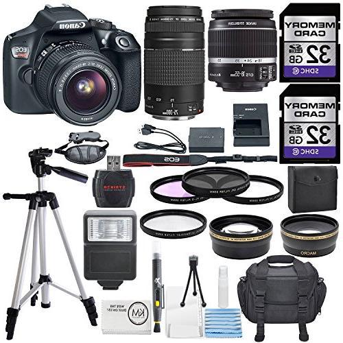 Canon T6 18 Megapixel Digital SLR Camera - 18 - 55 mm 75 - mm Black - LCD - - Optical - TTL - 5184 Image - 1920 1080 - PictBridge - Movie Mode - LAN