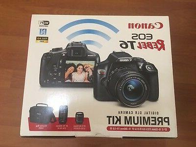 Canon EOS Rebel T6 18 Camera with - 18 mm mm 3 - Optical Zoom - Image 1080 Video - - PictBridge HD Movie - LAN