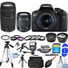 Canon EOS Rebel T6i/750D DSLR Camera W/ 18-55mm + 75-300mm I