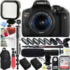 Canon EOS Rebel T6i DSLR Camera+18-55mm Lens Battery Grip &