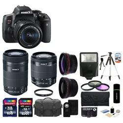 Canon EOS Rebel T6i 24.2MP DSLR Camera with 18-55mm + 55-250
