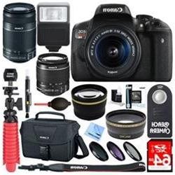 Canon EOS Rebel T6i DSLR Camera EF-S 18-55mm & 55-250mm IS L