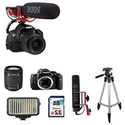 Canon Eos Rebel T6i DSLR EOS Video Creator kit Rode VIDEOMIC
