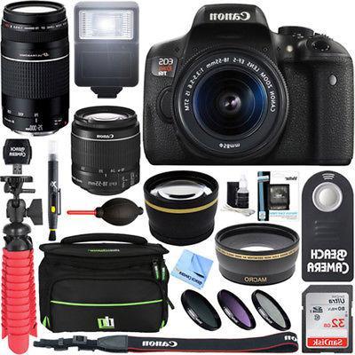 Canon EOS Rebel T6i DSLR Camera w/ EF-S 18-55mm & 75-300mm I