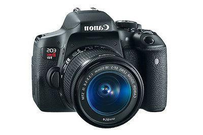 Canon EOS Rebel T6I  Digital SLR Camera - Black