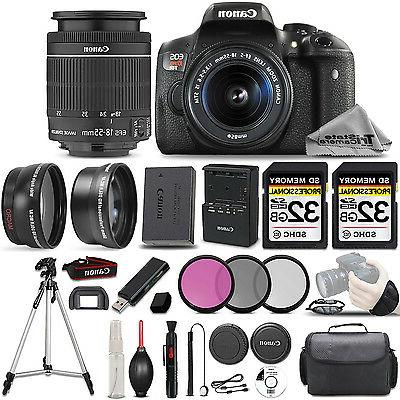 Canon EOS Rebel T6i SLR Camera + 18-55mm STM Lens + ULTIMATE