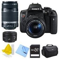 Canon EOS Rebel T6i Digital SLR Camera with 18-55mm, 55-250m