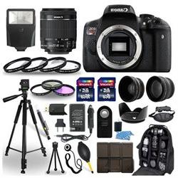 Canon EOS Rebel T6i SLR Camera + 18-55mm STM Lens + 30 Piece