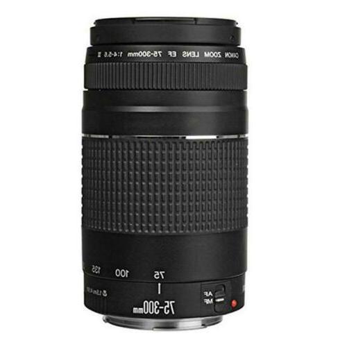 Canon Rebel T7 DSLR Camera EF-S + 75-300mm Lens