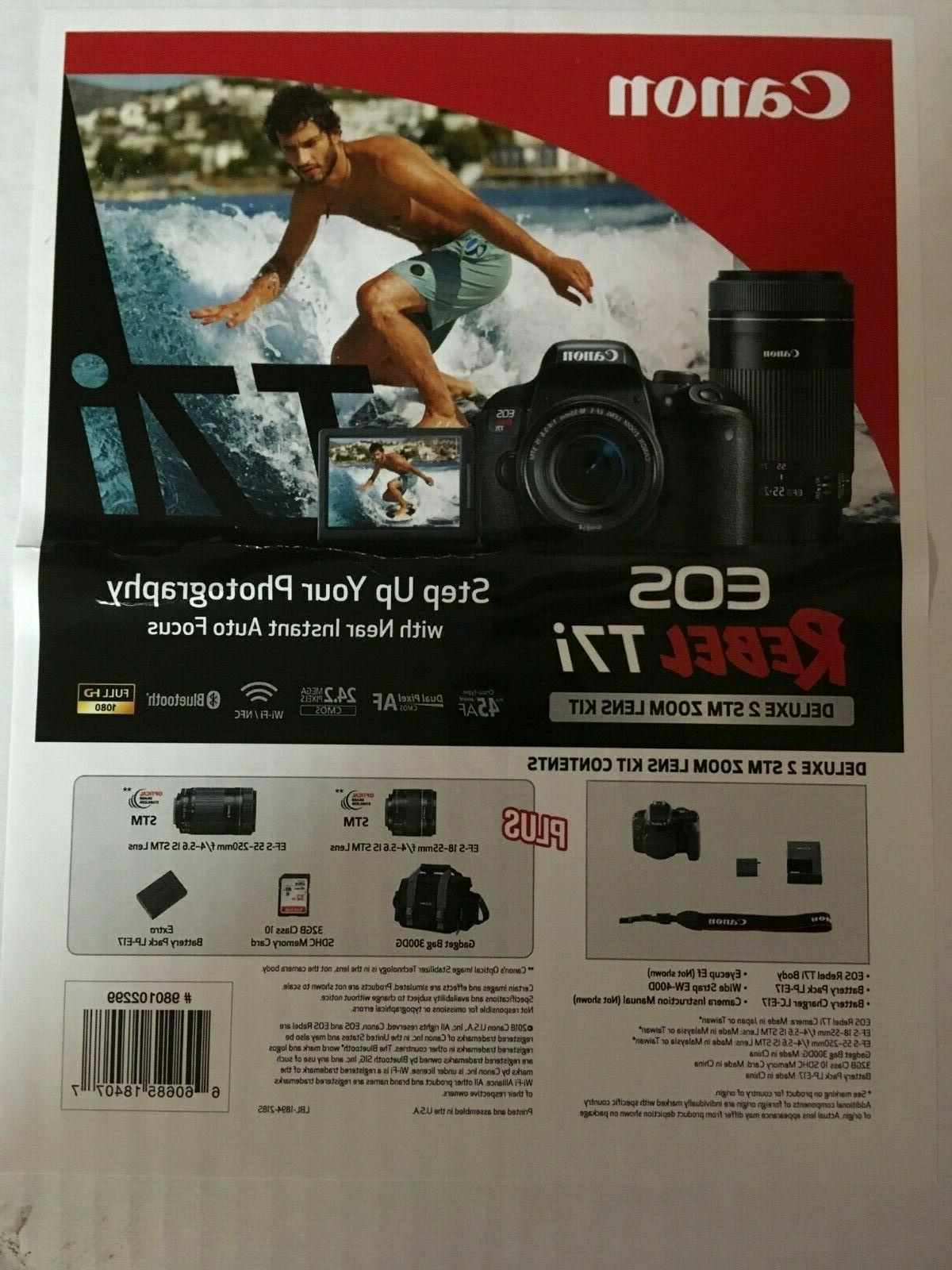 Canon EOS Rebel T7i 24.2MP Digital SLR Camera Bundle:18-55mm
