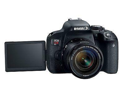 Canon EOS Rebel DSLR kit EF-S 18-55mm STM Lens Open Demo