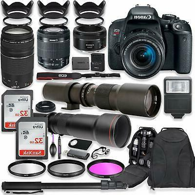 Canon EOS Rebel T7i DSLR Camera with  Lenses + Professional