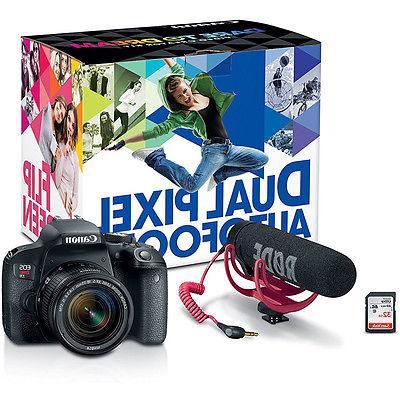 Canon EOS DSLR Camera Video Creator Kit + Bundle