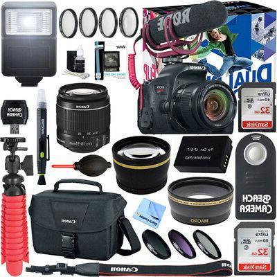 Canon EOS Rebel T7i DSLR Camera Video Creator
