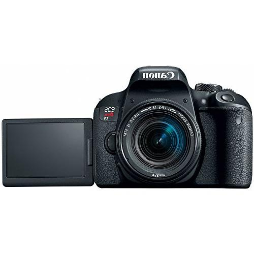 Canon Rebel DSLR Camera IS & 75-300mm III Lens Accessory Bundle SDXC Memory DSLR Bag + Lens Lens + Flash Remote +