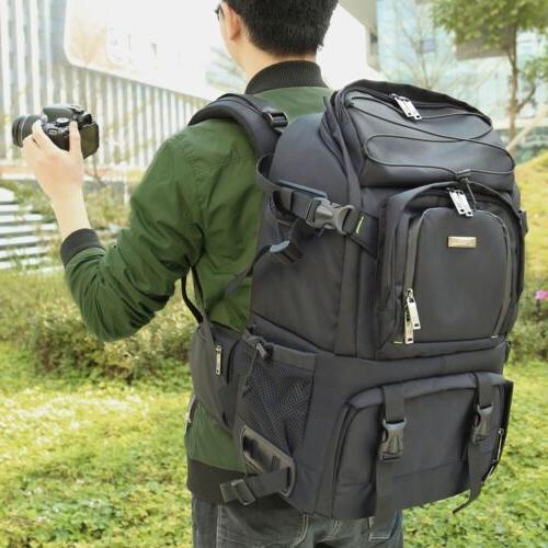 Large Pro DSLR Camera Backpack For Nikon D7200 D7100 D5300 D