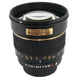 Rokinon 85mm f/1.4 Aspherical Lens for Pentax DSLR Cameras
